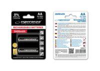 Akumulatorki AA Esperanza 2600mAh 2szt. czarne