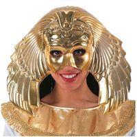MASKA złota metalik KLEOPATRA egipcjanka KRÓLOWA