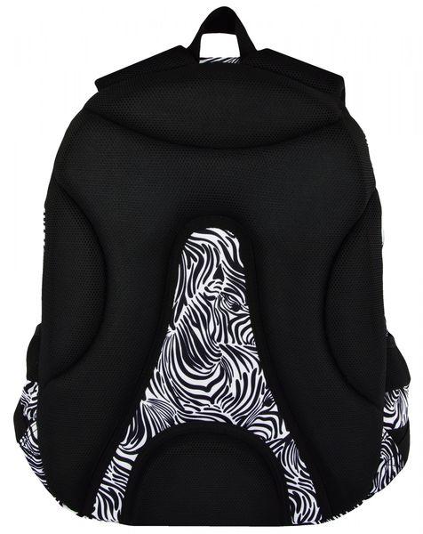 27d1338582c04 Plecak szkolny młodzieżowy ST.RIGHT w czarno białe wzory ZEBRA BP7 (18260)  zdjęcie