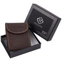 Etui skórzane na karty z ochroną kart RFID Zagatto antykradzieżowe 718