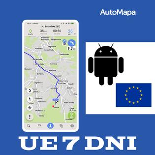 AutoMapa Europy licencja na tydzień (7 dni) Android