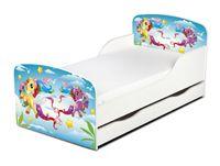 """Łóżeczko dziecięce """"Pony"""" 140x70 z materacem + szuflada"""