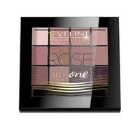 Eveline All in One Eyeshadow Palette Rose Cienie do powiek - paletka 12g - Rose