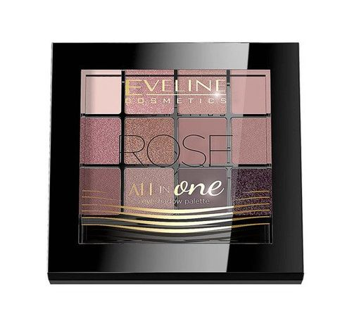 Eveline All in One Eyeshadow Palette Rose Cienie do powiek - paletka 12g - Rose na Arena.pl
