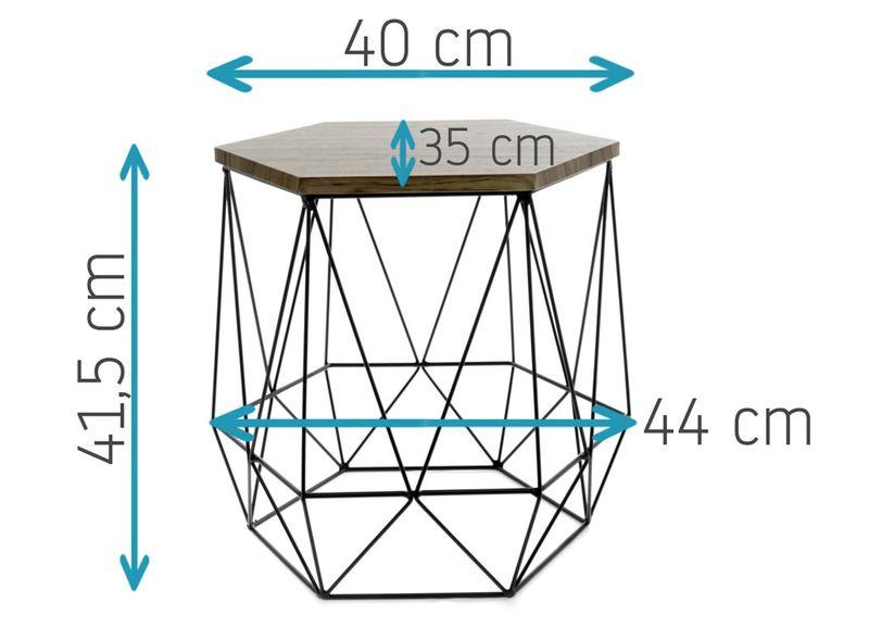 STOLIK DRUCIANY KAWOWY stół kosz DIAMOND SONOMA zdjęcie 4