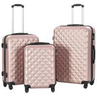 Zestaw twardych walizek 3 szt. różowe złoto ABS VidaXL