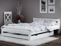 Łóżko A1 białe + materac sprężynowy 140x200 EMD