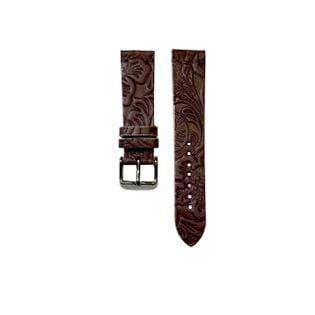 Pasek do zegarka 20mm bordowy lila   - polskie - Lamato