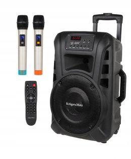 KM 1710 Przenośna kolumna aktywna + 2x mikrofon