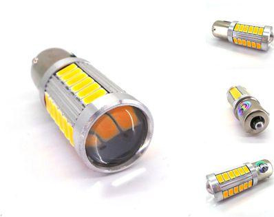 ŻARÓWKA LED BA15S, P21W, R5W, R10W 12V CANBUS pomarańczowa 1300lm