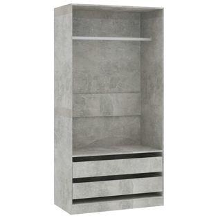 Szafa betonowy szary 100x50x200cm VidaXL