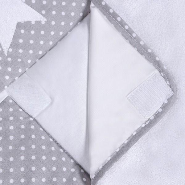 Lulando Mata na przewijak, Kropki Białe na Szarym-Gwiazdki, 75x80 cm zdjęcie 4