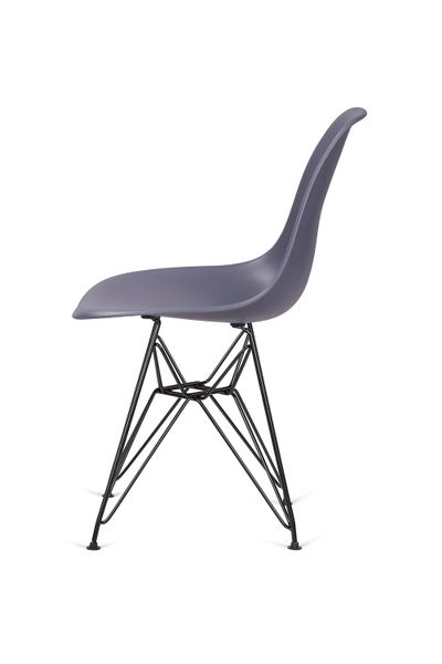Krzesło DSR BLACK ciemny szary 04 - podstawa metalowa czarna zdjęcie 1