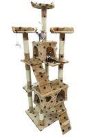 Drapak Dla Kota Kotów Wysoki 170 cm 5 poziomów Drzewko Beżowy w Łapki