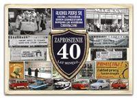 Zaproszenie na 40 urodziny PRL - ZX7000