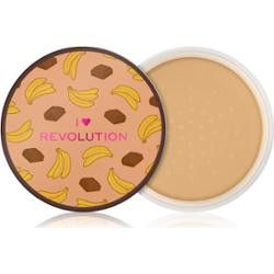 Makeup Revolution London I Heart Revolution Loose Baking Powder Puder 22g Chocolate Banana