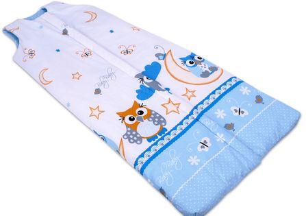 Śpiworek bawełniany BOBO 2-5 lat rozm. 92-128 niebieskie sowy