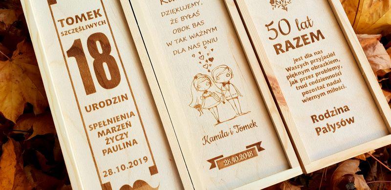 Skrzynka Na Wino Zaproszenie Dla świadków ślub Arenapl