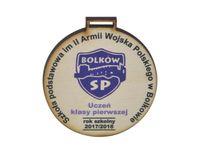 drewniany medal okolicznościowy, pamiątkowy, odznaczenie 6x6 cm 50szt