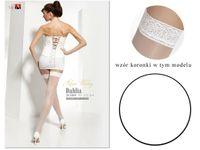 Białe pończochy ślubne Dahlia Adrian 3-4 Bianco