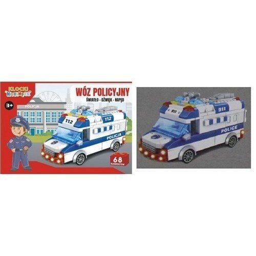 Klocki Auto Policja Niebieskie Światło, Dźwięk zdjęcie 1