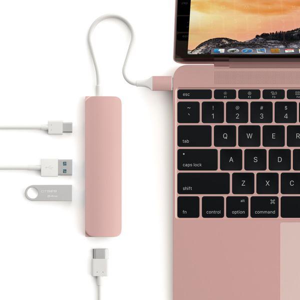 Satechi Multi Port USB-C adapter USB, USB-C, HDMI 4K Rose Gold zdjęcie 3
