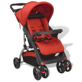 Czerwony wózek spacerowy, 102x52x100 cm