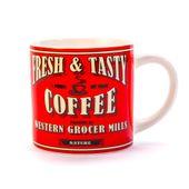 KUBEK CERAMICZNY COFFEE CZERWONY 400 ml