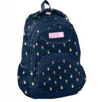 Lekki trzykomorowy plecak szkolny Paso, kaktusy