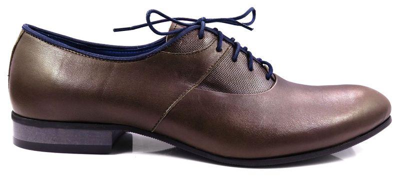 f9d4e3a0802e4 Brązowe obuwie męskie z granatowymi elementami T60 Rozmiar Obuwia - 44  zdjęcie 1