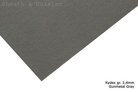 Kydex Gunmetal Gray - 200x300mm gr. 2,4mm