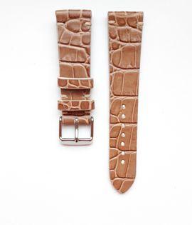 Pasek do zegarka 20mm skóra jasny brąz - polskie - Lamato