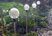 Lampa solarna kolorowa LED w kształcie kuli lampki solarne