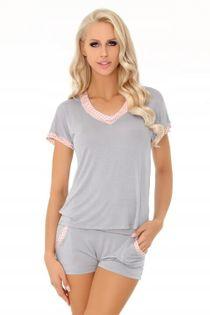 Piżama Harnette L/XL wiskoza spodenki kieszenie