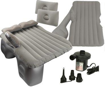 Materac dmuchany łóżko samochodowe 130x80cm szary + pompka