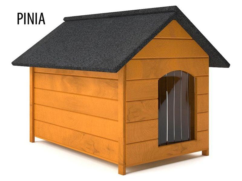 Różne kolory drewniana ocieplana buda dla psa XL solidna 60KG +kurtyna zdjęcie 3