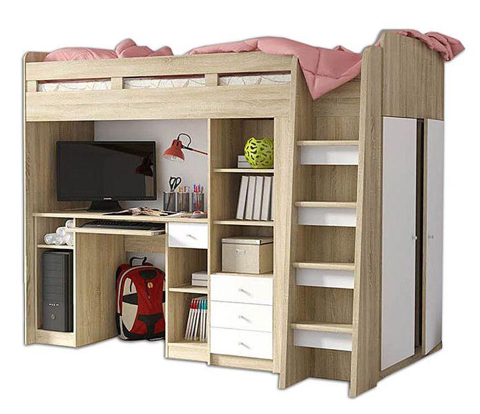 Łóżko Piętrowe dla dzieci, meble młodzieżowe antresola UNIT zdjęcie 1
