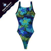 Kostium pływacki YVETTE Rozmiar - Stroje damskie - 46(3XL), Kolor - Aqua Sphere - Stroje - niebieski / zielony