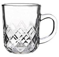 Kubek szklany szklanka z uchem TOMMY 230 ml