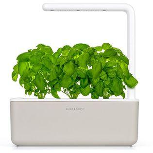 Click & Grow Smart Garden 3 beżowy - zielnik, ogród domowy z lampą LED