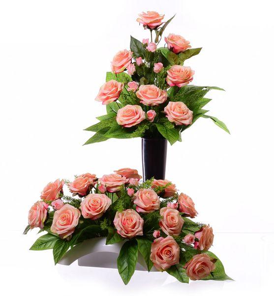 Wiązanka kompozycja herbaciana róża +bukiet zdjęcie 1