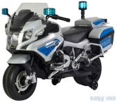 BMW policja motor skuter na akumulator licencja Warszawa srebrny