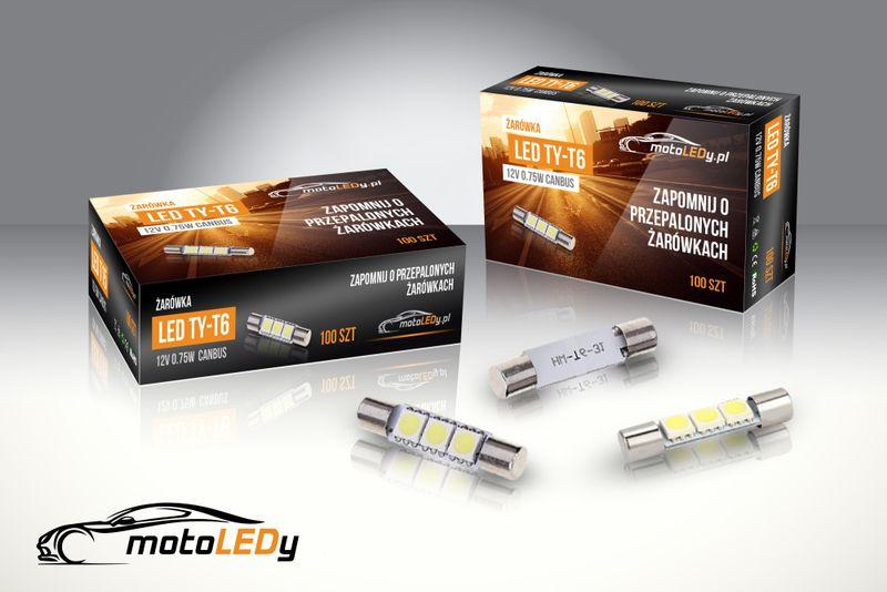 ŻARÓWKA LED TY-T6, T6.3, rurkowa 12V 0,75W CANBUS 31mm 60lm na Arena.pl