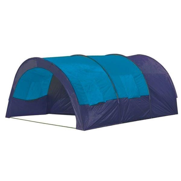 Namiot Turystyczny Dla 6 Osób, Granatowo-Niebieski zdjęcie 2