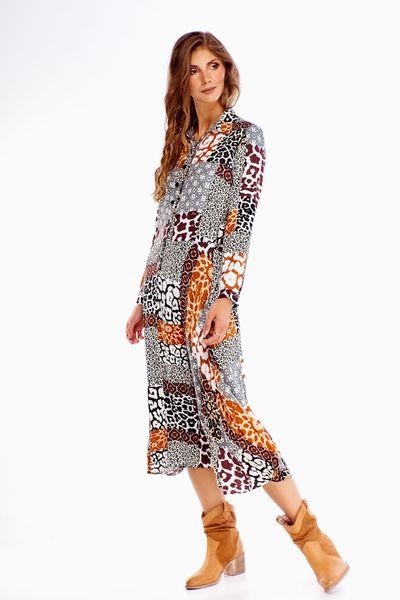Sukienka w zwierzęcy wzór - Multikolor 40 zdjęcie 2