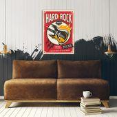 Wydruk na metalu, Retro – hard rock gitara 30x40 zdjęcie 3