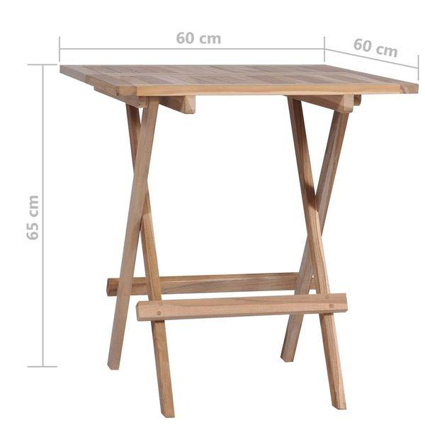 Zestaw Mebli Ogrodowych Drewnianych Stolik I Składane Krzesła