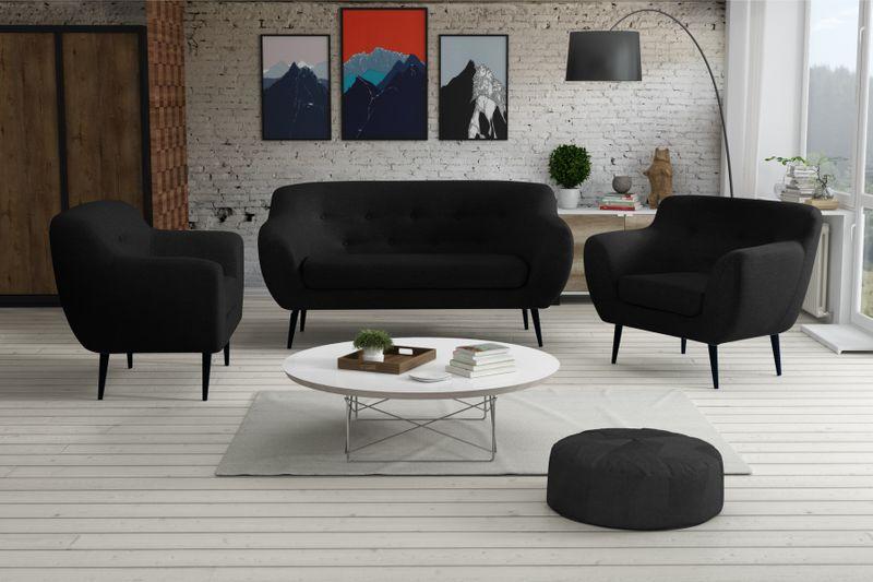 Sofa FINKA 3 PIK kanapa skandynawska vintage retro szara prl RIBES zdjęcie 6