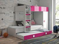 Meble młodzieżowe, łóżko piętrowe z szafą TOLEDO 2