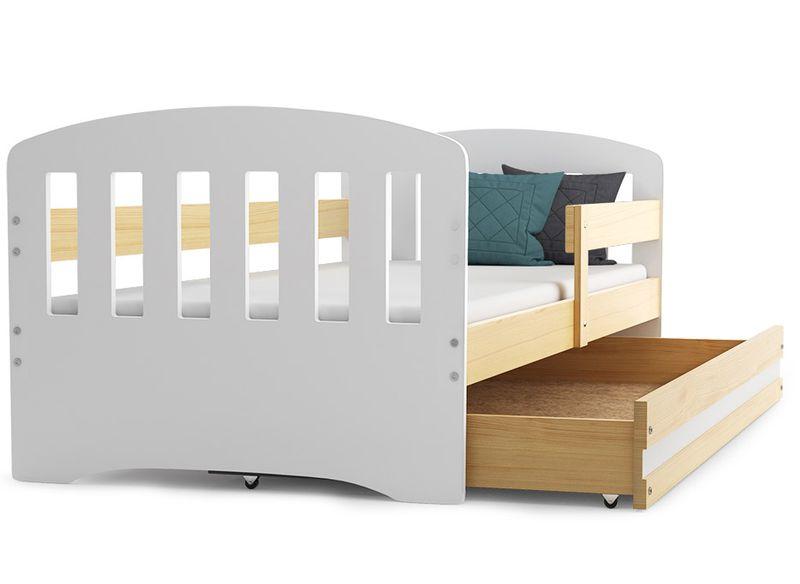 Łóżko dla dzieci HAPPY dziecięce 160x80  + SZUFLADA + MATERAC zdjęcie 6